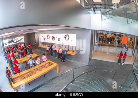 Apple Store customers - Stock Photo