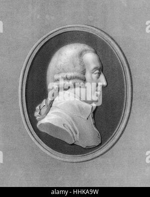 Adam Smith, 1723-1790, a Scottish moral philosopher - Stock Photo