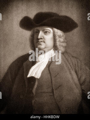 William Penn, 1644 - 1718, founder of the colony of Pennsylvania - Stock Photo