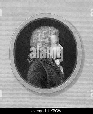 Wolfgang Amadeus Mozart, 1756 - 1791, a composer of the First Viennese School
