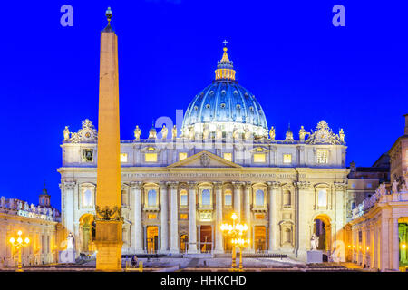 Rome, Italy. Saint Peter Basilica in Vatican City - Stock Photo