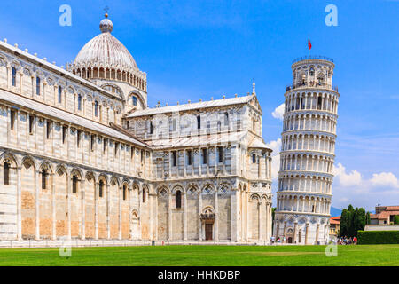 Pisa, Italy. Cathedral and the Leaning Tower. - Stock Photo