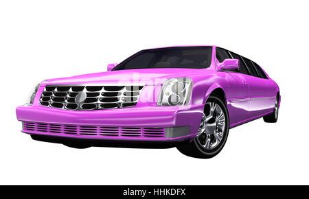 stretch limousine pink - optional - Stock Photo