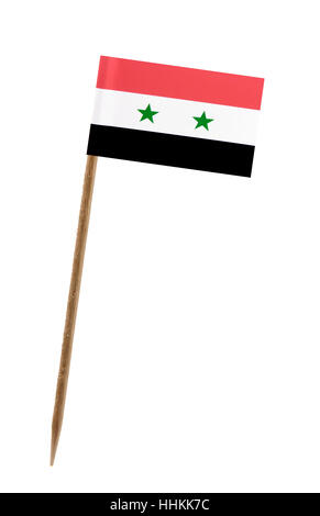 Tooth pick wit a small paper flag of Syria - Stock Photo