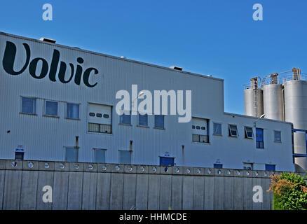 Volvic factory Volvic Puy-de-Dome Auvergne Massif-Central France - Stock Photo