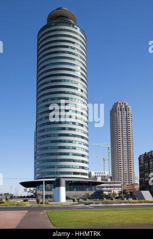 World Port Center at Wilhelmina Quay, Kop van Zuid, Rotterdam, Holland, Netherlands - Stock Photo