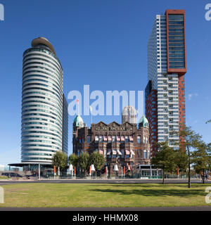 World Port Center and Hotel New York, former Holland-Amerika Lijn shipping company, Wilhelmina Quay, Kop van Zuid, - Stock Photo
