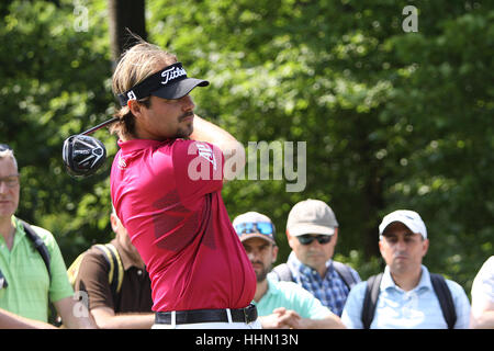 GUYANCOURT, FRANCE, JULY 02, 2015 : Victor Dubuisson  (FRA) at  the golf French Open  , European Tour, july 02, - Stock Photo