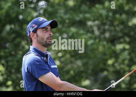 GUYANCOURT, FRANCE, JULY 02, 2015 : Thomas Linard (FRA) at  the golf French Open  , European Tour, july 02, 2015, - Stock Photo