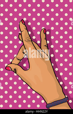 graphic, bracelet, wrist, victory, young, younger, conspicuous, pictographic, - Stock Photo