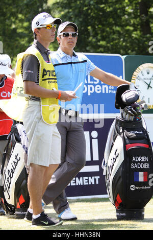 GUYANCOURT, FRANCE, JULY 02, 2015 : Adrien Saddier (FRA) at  the golf French Open, European Tour, july 02, 2015, - Stock Photo