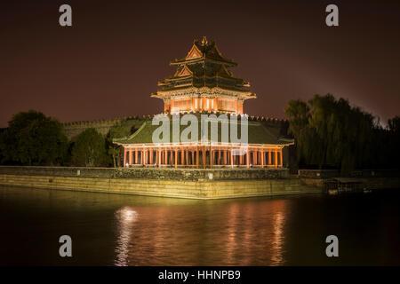 Turret of the Forbidden City, Beijing, China - Stock Photo