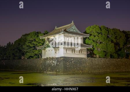Imperial Palace Kikyomon Gate, Tokyo, Japan - Stock Photo