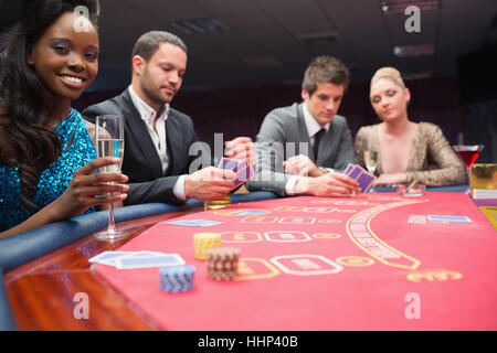 People around the poker table in casio Stock Photo: 131407775 - Alamy