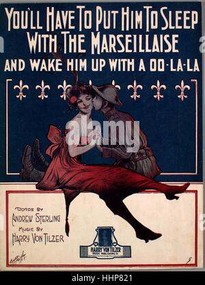 Sheet music cover image of the song 'You'll Have to Put Him to Sleep With the Marseillaise (And Wake Him Up With - Stock Photo