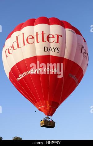 Bristol Balloon Fiesta 2016 in the vibrant & expanding city of Bristol, England - Stock Photo