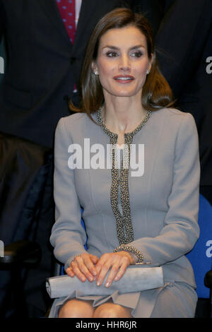 Madrid, Spain. 20th Jan, 2017. Queen Letizia of Spain during the delivery of 'Tomas Francisco Prieto Award' at Casa - Stock Photo