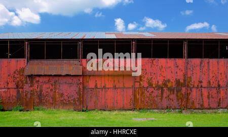 corrugated metal rustic barn abstract - Stock Photo