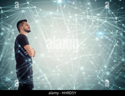 System of interconnection of network - Stock Photo
