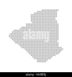 map of pixels: algeria - Stock Photo