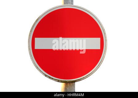 sign, signal, traffic, transportation, blank, european, caucasian, road - Stock Photo