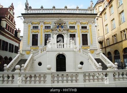 baroque, stock exchange, stock-exchange, emporium, center of trade, market, - Stock Photo