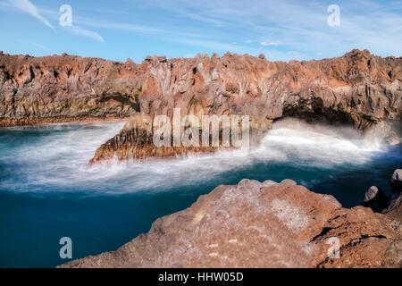 Los Hervideros, Lanzarote, Canary Islands, Spain - Stock Photo