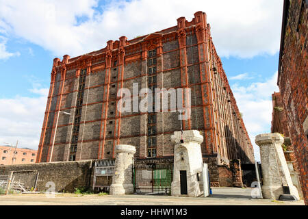 The Stanley Dock Tobacco Warehouse, the worlds largest brick warehouse. Liverpool England - Stock Photo