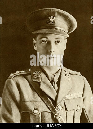 The Prince of Wales (to become Edward VIII) in 1915, when he turned 21. Serving in the armed forces during the First - Stock Photo