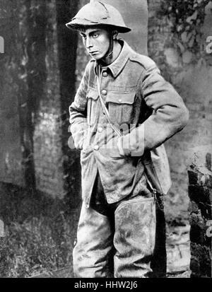 British prisoner of war in a German camp. First World War, 1916 - Stock Photo