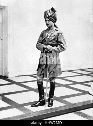 The Prince of Wales (to become King Edward VIII before abdication) visit to India in 1921, wearing the uniform of - Stock Photo