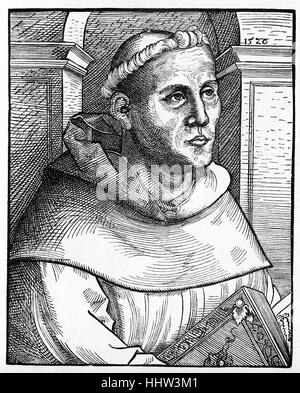 Martin Luther (10 November 1483 – 18 February 1546), theologian and seminal figure in the Protestant Reformation. - Stock Photo