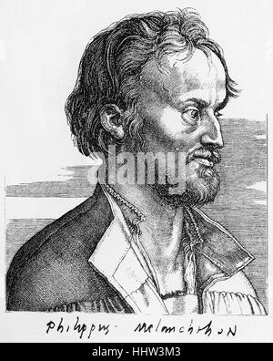 Philip Melanchthon (16 February 1497 – 19 April 1560), German Lutheran reformer, collaborator with Martin Luther - Stock Photo