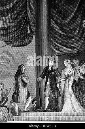 The introduction of Lady Mary(1631 – 1660), the eldest daughter of King Charles I to Prince William II. The marriage - Stock Photo