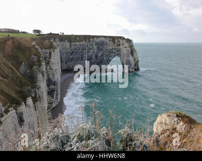View from the Falaise d'Etretat - Stock Photo
