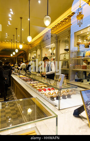 Angelina Tea Room in Paris, France. - Stock Photo