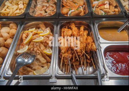 A selection of Chinese restaurant food dishes. UK - Stock Photo