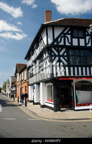 Junction of High Street and Ely Street in Stratford-upon-Avon, Warwickshire, England, U.K. - Stock Photo