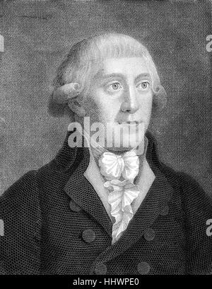 Gottfried August Buerger, December 31, 1747 - June 8, 1794, was a German poet, historical image or illustration, - Stock Photo