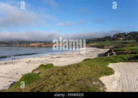 A view of Pebble Beach golf  course, Monterey, California, USA - Stock Photo