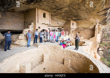 Balcony House cliff dwelling, Mesa Verde National Park, New Mexico, USA - Stock Photo