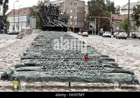 WARSAW, POLAND - SEPTEMBER 1, 2012: Memorial to the victims of  the Soviets - Monument for the Fallen and Murdered - Stock Photo