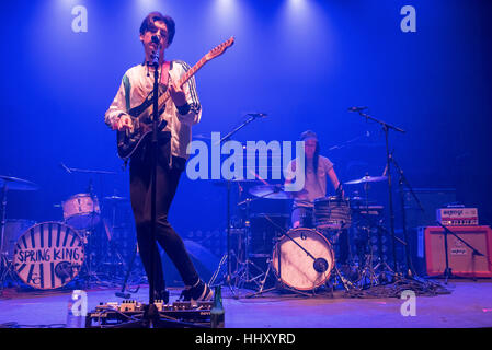 London, UK. 20th Jan, 2017. Declan McKenna an English singer, songwriter, and musician best known for winning the - Stock Photo