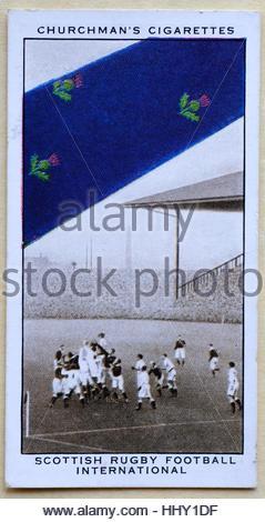 Scottish Rugby Football International tie - Stock Photo