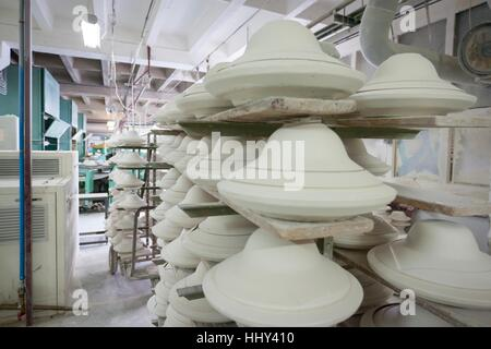 Chodziez, Poland - March 19, 2012 The factory produces porcelain. - Stock Photo