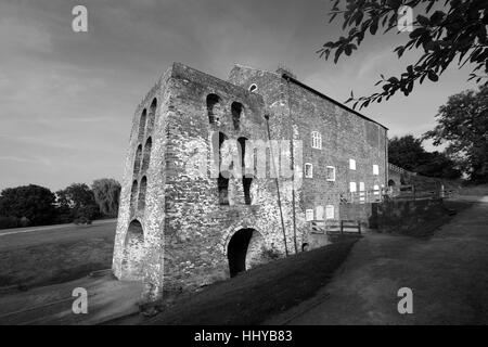 Moira Furnace, an early 19th Century iron-making blast furnace. Ashby Canal, Moira village, Leicestershire, England; - Stock Photo