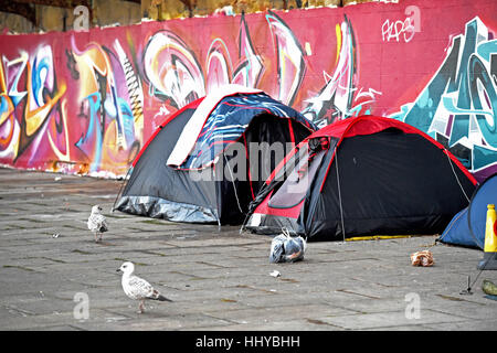 ... Homeless tents on Brighton seafront UK - Stock Photo & Homeless tents on Brighton seafront UK Stock Photo Royalty Free ...