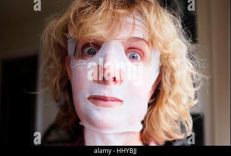 Swedish mature wearing mask blowjob