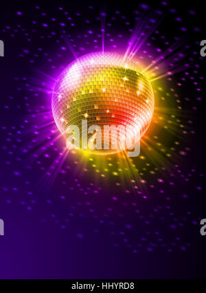 disco, glass, chalice, tumbler, entertainment, music, art, holiday, colour, - Stock Photo