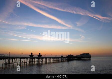 Blackpool's North Pier; a Victorian structure and seaside evening coastal  landmark, Lancashire, UK - Stock Photo